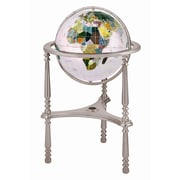 Alexander Kalifano 13'' Ambassador Opal Globe with Three Leg High Stand in Silver