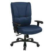 Office Star 25'' Executive Chair with Fabric; Blue