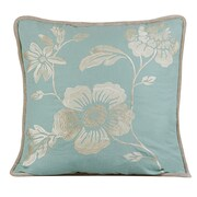 Gracious Living Royal Throw Pillow; Charlotte Blue
