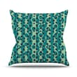 KESS InHouse Bubbles Made of Paper Polyester Throw Pillow; 20'' H x 20'' W