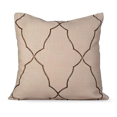 Gracious Living Mesmerize Burlap Throw Pillow; Wheatish