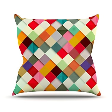 KESS InHouse Pass This On Throw Pillow; 20'' H x 20'' W