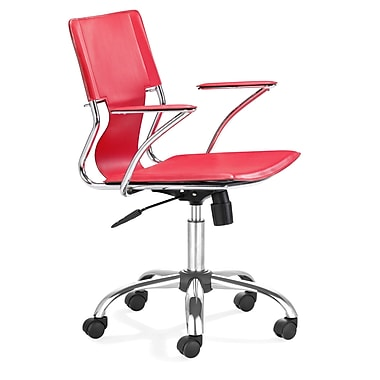 dCOR design Trafico Office Chair with Red PVC Seat and Back