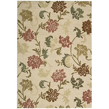 Nourison Sunburst Buff Area Rug; 2'6'' x 4'