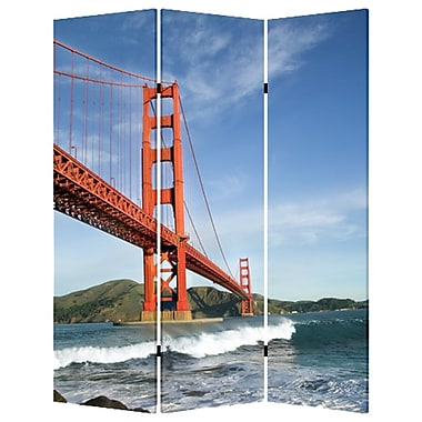 Screen Gems 72'' x 48'' San Francisco 3 Panel Room Divider