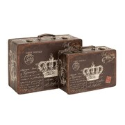 Woodland Imports Canvas Case in Queen's Throne (Set of 2)