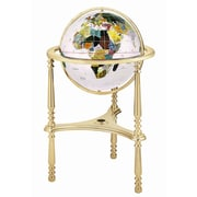 Alexander Kalifano 13'' Ambassador Opal Globe with Three Leg High Stand in Gold