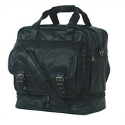 Mercury Luggage Highland II Series 15'' Leather Carry-On Duffel