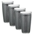 Kraftware Fishnet 24 Oz. Double Wall Insulated Tumbler (Set of 4); Black