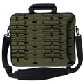 Designer Sleeves Executive Sleeves Olive Retro Curves PC Laptop Bag; 17''