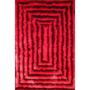 Rug Factory Plus Shaggy 3D Red/Black Area Rug; 7'6'' x 10'2''