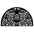 Imports Decor Pineapple Semi Circle Doormat; 18'' x 30''
