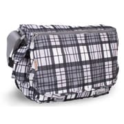 J World Terry Campus Messenger Bag; Grey