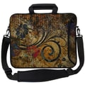 Designer Sleeves Executive Sleeves Vintage Fleur PC Laptop Bag; 17''