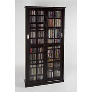 Leslie Dame Glass Door Multimedia Cabinet; Espresso