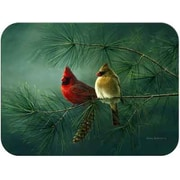 McGowan Tuftop Cardinals and White Pine Cutting Board; Small (9''x12'')