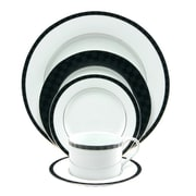 Nikko Ceramics Black Tie 5 Piece Place Setting