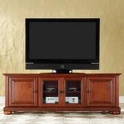 Crosley 60-Inch Low Profile TV Stand; Classic Cherry