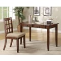 Wildon Home   Hartland Writing Desk and Chair Set; Chestnut