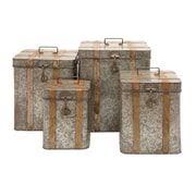 Woodland Imports Boxes Intricate Design (Set of 4)