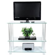 RTA Home And Office Extra Tall Glass and Aluminum 42'' TV Stand