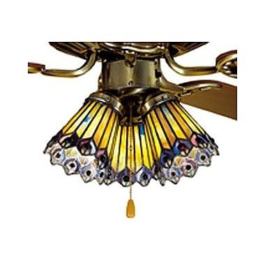 Meyda Tiffany 4'' Tiffany Glass Bell Fan Fitter Shade