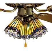 Meyda Tiffany 4'' Tiffany Glass Bell Ceiling Fan Fitter Shade