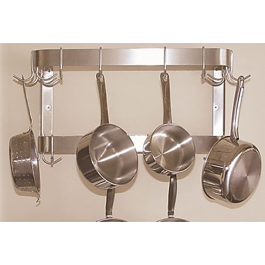 A-Line by Advance Tabco Wall Mounted Double Bar Pot Rack; 12'' H x 36'' W x 12'' D