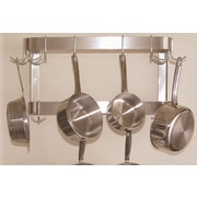 A-Line by Advance Tabco Wall Mounted Double Bar Pot Rack; 12'' H x 48'' W x 12'' D