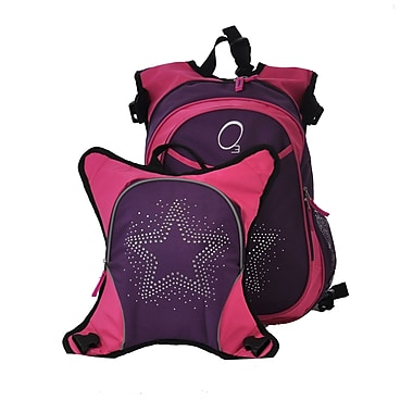 Obersee O3 Munich Bling Rhinestone Star School Backpack with Detachable Lunch Cooler