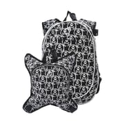 Obersee O3 Munich Skulls School Backpack with Detachable Lunch Cooler