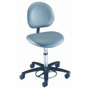 Brewer Millennium Series Surgeon's Round Seat Stool w/ Locking Casters; With backrest