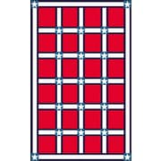 American Home Rug Co. Bright Red/White Stars and Stripes Area Rug; 5' x 8'
