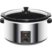 Brentwood 8-Quart Slow Cooker; Stainless Steel