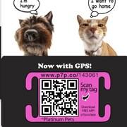 Platinum Pets The Original Smartphone Collar ID Cat Tag with GPS; Pink