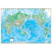 Universal Map Advanced Physical Map - World; With Backboard
