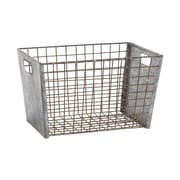 Woodland Imports Metal Wire Basket; Small