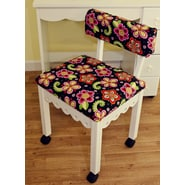 Arrow Sewing Cabinets Sewing Chair with Underseat Storage; White