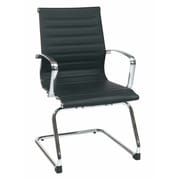 Office Star Eco Leather Visitors Chair; Black