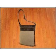 Crescent Moon Mat Sleeve Messenger Bag in Natural / Brown