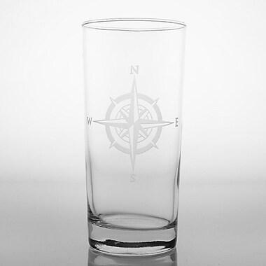 Rolf Glass Compass Rose Cooler Glass (Set of 4)