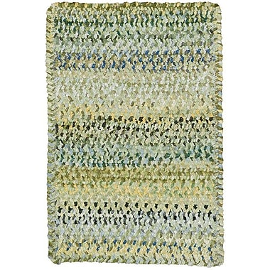Capel Ocracoke Pale Green Area Rug; Cross Sewn Square 5'6''
