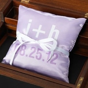 Checkerboard Personalized Moderna Ring Throw Pillow; Lilac