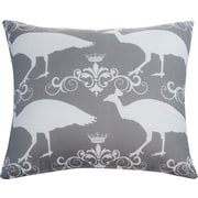 The Well Dressed Bed Peacock Accent Cotton Throw Pillow; Storm