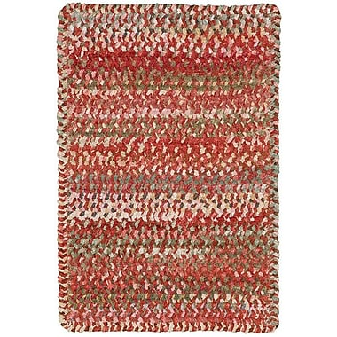 Capel Ocracoke Orange Area Rug; Cross Sewn Runner 2' x 8'