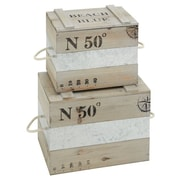 Woodland Imports 2 Piece Wooden Box Set
