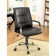 Hokku Designs Blake High-Back Leatherette Office Chair with Arms