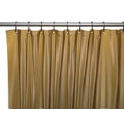 Carnation Home Fashions Vinyl Hotel Shower Curtain Liner; Gold