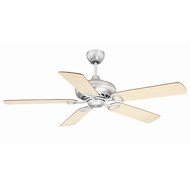 Savoy House 52'' San Pablo 5 Blade Ceiling Fan; Satin Nickel