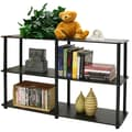 Furinno 3 Tier  Multipurpose Storage Display Rack/Shelf; Espresso/Black